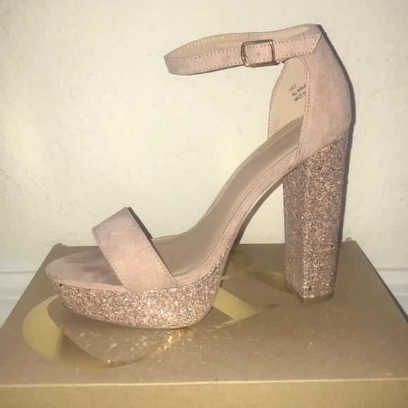 Baby Pink Sparkly Heels
